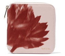 Portemonnaie aus Leder mit Print