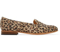 Dandy leopard-print suede loafers