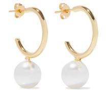 18-karat -plated Swarovski Pearl Earrings