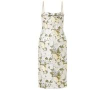 Kleid aus Metallic-brokat