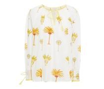 Palmy Geraffte Bluse aus Baumwoll-voile mit Print