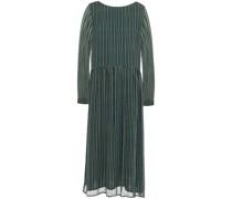 Gerafftes Kleid aus Chiffon mit Streifen