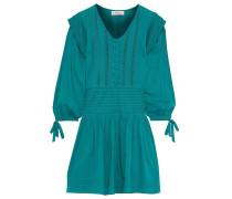 Hemmingway Pleated Cotton-poplin Mini Dress
