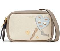 Perry Appliqué Textured-leather Shoulder Bag