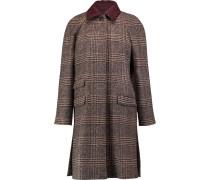 Houndstooth Alpaca And Wool-blend Coat Mehrfarbig