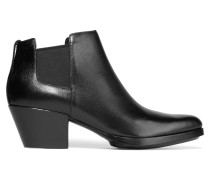 Dolores Leather Ankle Boots Schwarz
