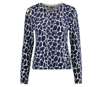 Shirley Printed Cashmere Sweater Blau