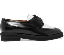 Two-tone leather brogues