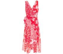 Wrap-effect Floral-print Georgette Midi Dress