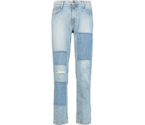 The Fling Patchwork Boyfriend Jeans Heller Denim