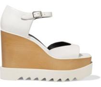 Woman Felik Faux Leather Wedge Sandals White