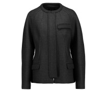 Fenton Striped Wool-blend Jacket Mitternachtsblau