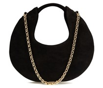 Luna Chain-trimmed Suede Shoulder Bag
