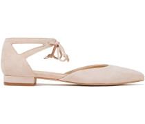 Penelope Cutout Suede Pint-toe Flats