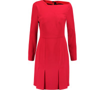 Evie Pleated Crepe Dress Rot