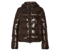 Adhara Quilted Shell Down Coat Dunkelbraun