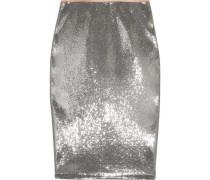 Sequined tulle midi skirt