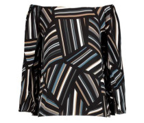 Off-the-shoulder printed chiffon top