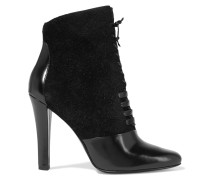 Harleth Leather And Lace Ankle Boots Schwarz