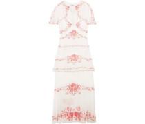 Maya convertible floral-print silk-jacquard midi dress