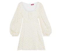 Juniper Minikleid aus Baumwollsatin mit ausbrennmuster und Floralem Print