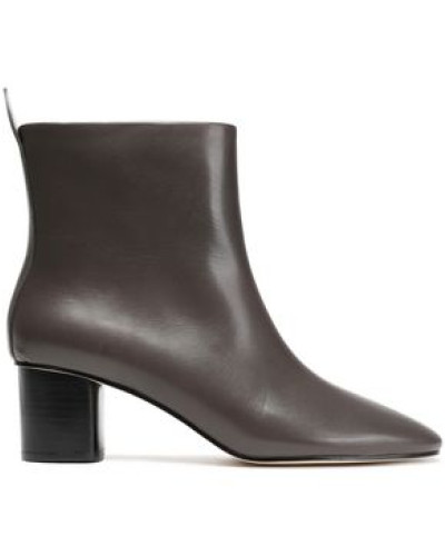 Leather Ankle Boots Taupe