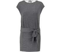 Draped Modal-jersey Mini Dress Grau