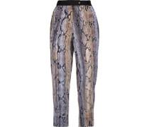 Printed crepe tapered pants