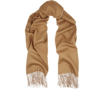 Two-tone Double-faced Merino Wool Scarf Camel
