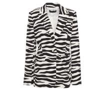Zebra-print Crepe Blazer