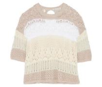 Cotton lace-knit sweater