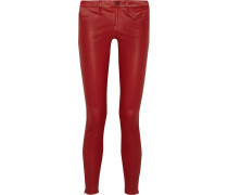 L8001 Stretch-leather Skinny Pants Rot