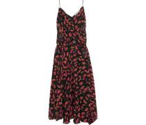 Benita wrap-effect printed silk-georgette dress