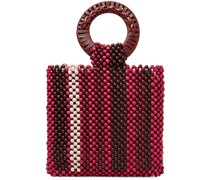Arusi Rattan-trimmed Beaded Tote