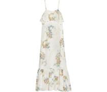 Hambledon Floral-print Silk-georgette Maxi Dress Elfenbein