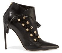 Blanche Leather Ankle Boots Schwarz