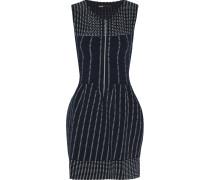Romuald Pleated Stretch-knit Mini Dress Mitternachtsblau