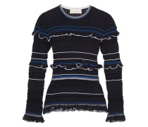 Atmos Ruffled Cotton-blend Top Mitternachtsblau
