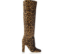 Renee Leopard-print Calf Hair Knee Boots Leoparden-Print
