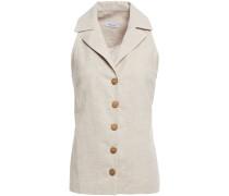 Woman Linen And Cotton-blend Top Mushroom