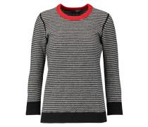 Striped Wool-blend Sweater Grau