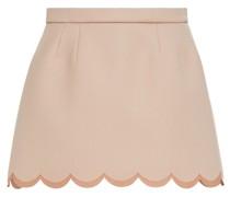 Mehrlagige Shorts aus Drell mit Muschelsaum