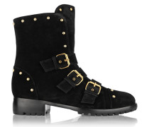 Cobain Studded Suede Ankle Boots Schwarz