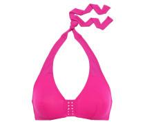 Close Up Forming Braid-trimmed Halterneck Bikini Top