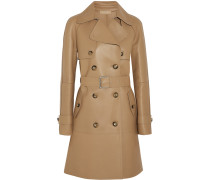 Bonded Leather Trench Coat Neutral