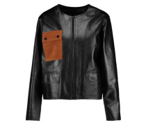 Virgil suede-paneled leather jacket