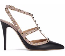Rockstud Two-tone Leather Pumps