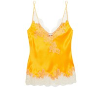 Lace-trimmed Silk-twill Camisole
