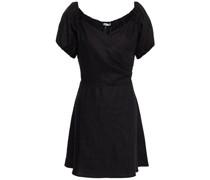 Bowie Wrap-effect Linen Mini Dress