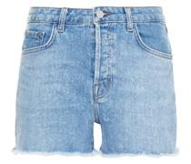 Gracie Frayed Bleached Denim Shorts